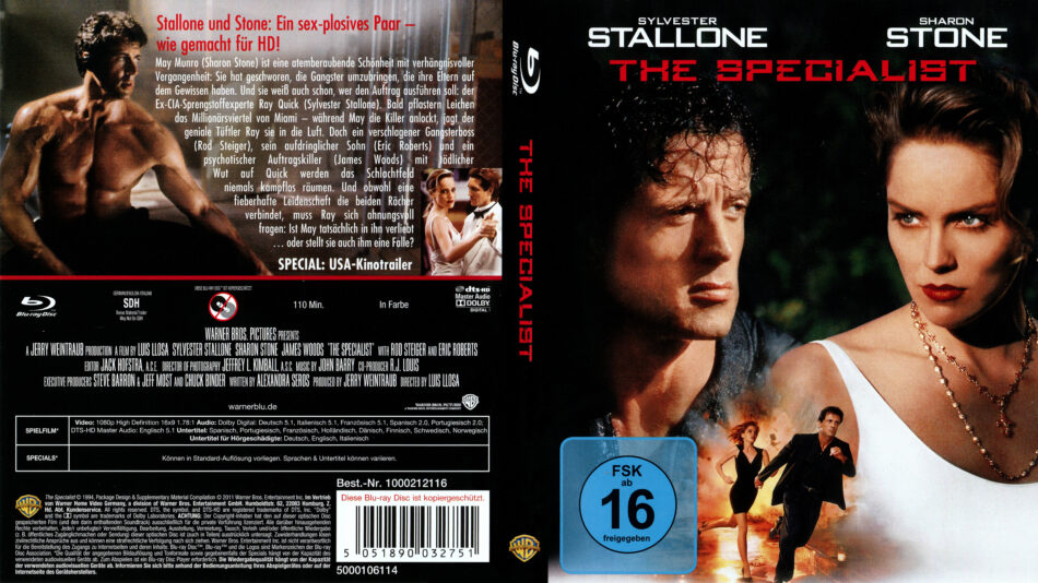 The Specialist Blu Ray Cover Label 1994 R2 German
