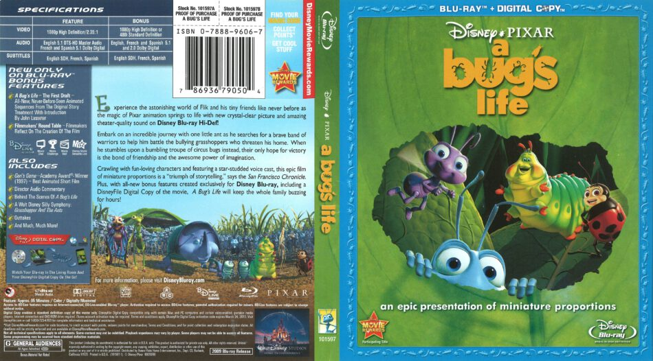 A Bug S Life Blu Ray Cover 1998 R1