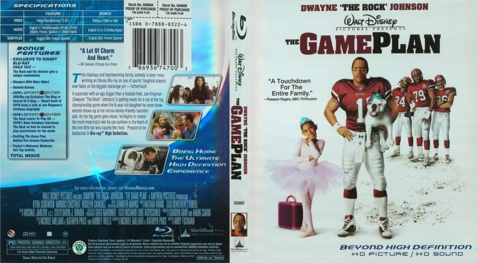 The Game Plan blu-ray cover (2007) R1