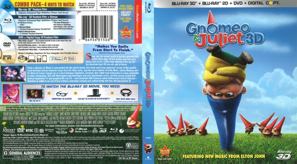 Gnomeo And Juliet Blu Ray Cover 2011 R1