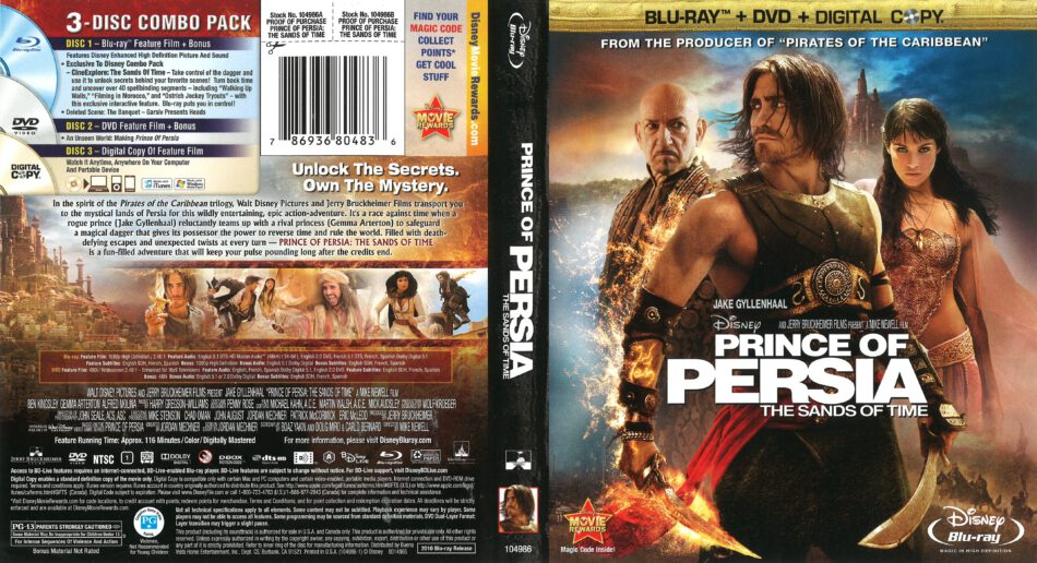 Prince Of Persia The Sands Of Time Blu Ray Cover 2010 R1