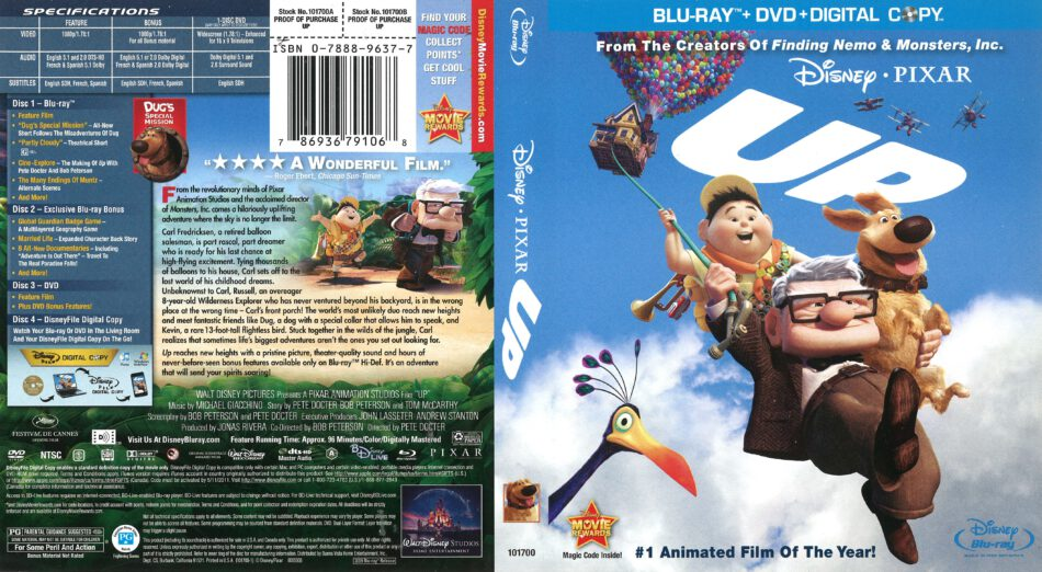 Up blu-ray cover (2009) R1