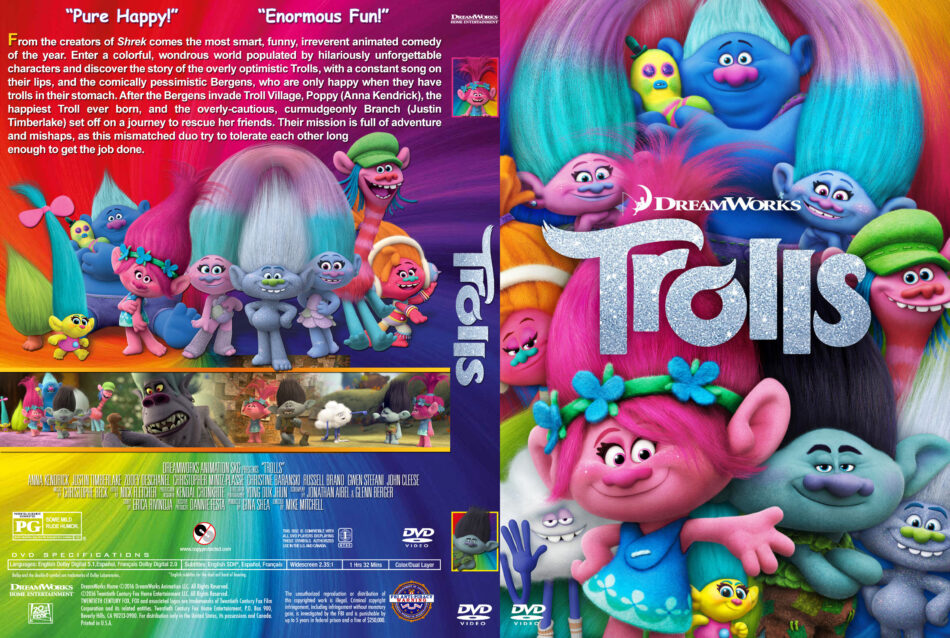 Trolls Dvd Cover 2016 R1 Custom