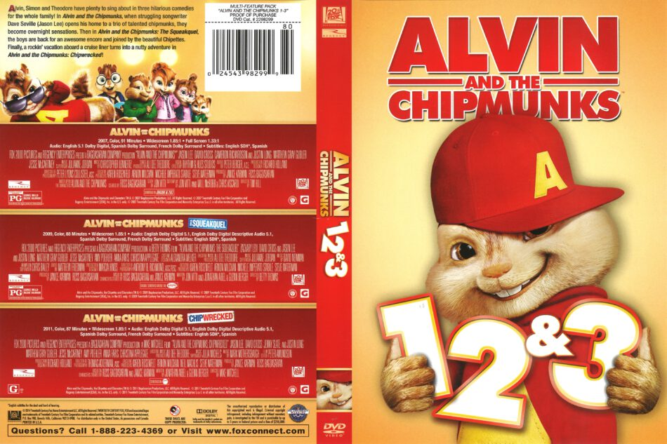 Alvin And The Chipmunks 1 2 3 Collection Dvd Cover 2011 R1