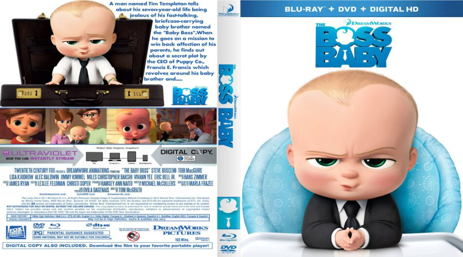 e41e9f5780f4d The Boss Baby (2017) R1 Custom 3D + Blu-Ray Covers