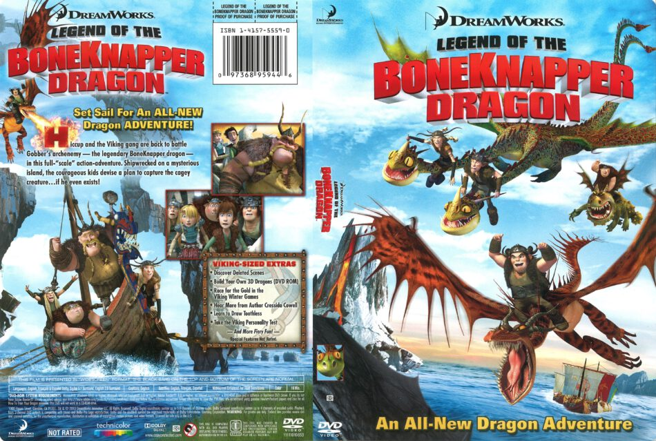 How To Train Your Dragon Legend Of The Boneknapper Dragon Dvd Cover 2010 R1