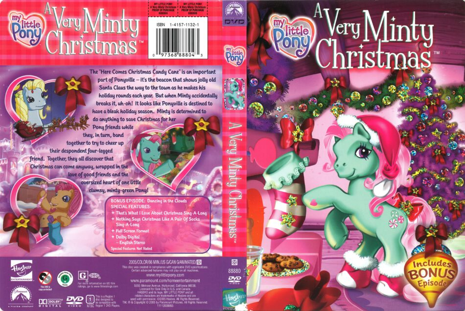 Mlp Christmas.My Little Pony A Very Minty Christmas Dvd Cover 2005 R1