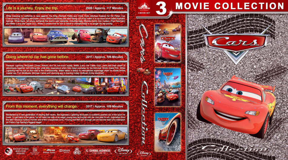 Cars Collection Blu Ray Cover 2006 2017 R1 Custom