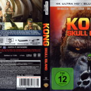 Kong – Skull Island (2017) R2 German 4K UHD Blu-Ray Cover & Label
