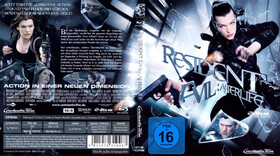 Resident Evil Afterlife Blu Ray Cover 2010 R2 German