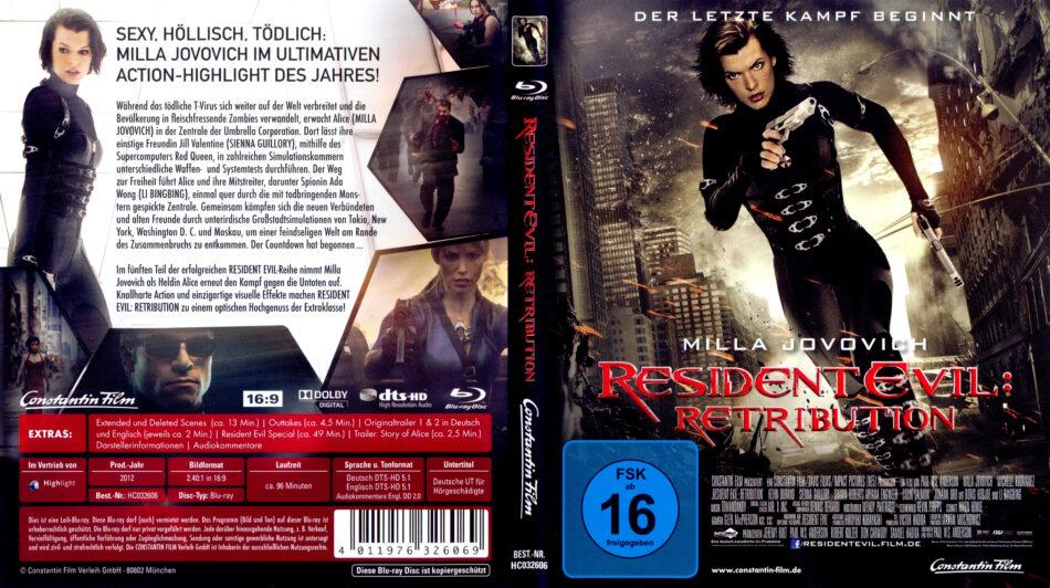 Resident Evil Retribution Blu Ray Cover 2012 R2 German