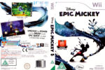 Disney Epic Mickey (2010) Wii Pal DVD Cover & Label