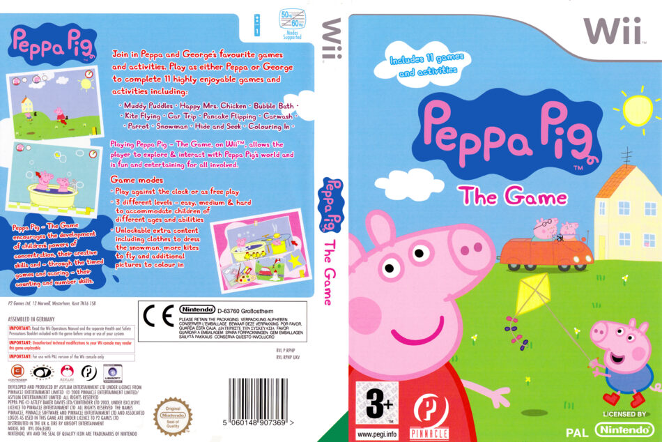 Peppa Pig The Game Dvd Cover Label 2009 Pal