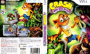 Crash Bandicoot: Mind Over Mutant (2008) Pal Wii DVD Cover & Label
