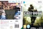 Call of Duty: Modern Warfare – Reflex (2009) Pal Wii DVD cover & label