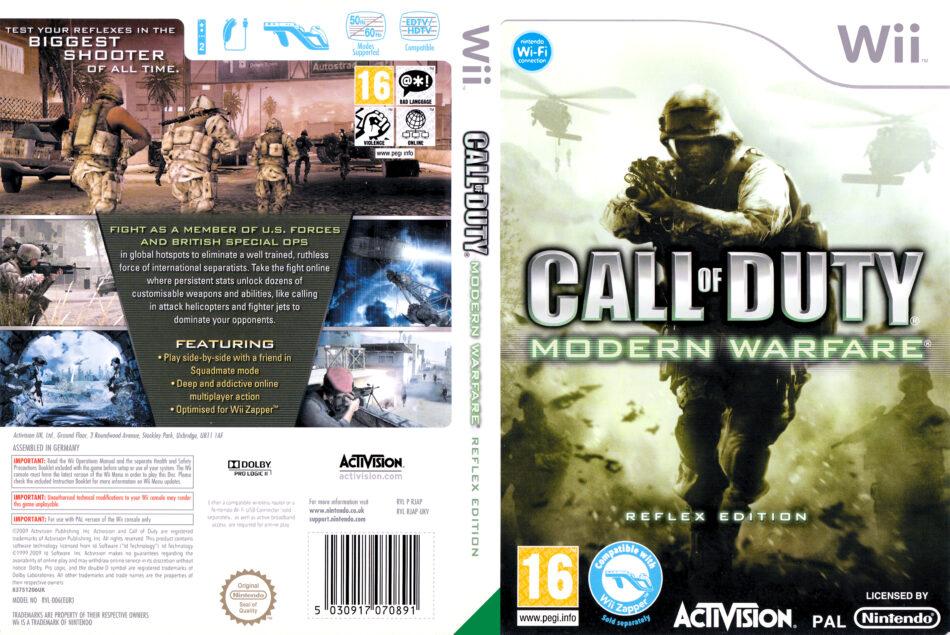 Call Of Duty Modern Warfare Reflex Dvd Cover Label 2009 Pal