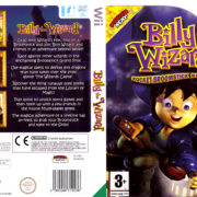 Billy the Wizard: Rocket Broomstick Racing (2007) Pal Wii DVD Cover & label