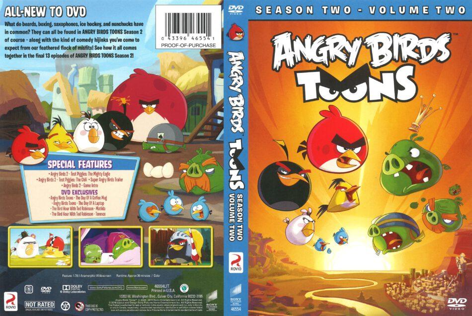 Angry Birds Toons Season 2 Volume 2 Dvd Cover 2016 R1