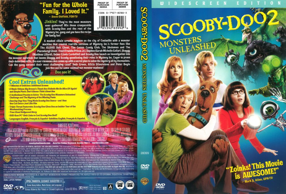 Scooby Doo 2 Monsters Unleashed Dvd Cover 2004 R1