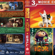 Bolt / Igor / Wall•e Triple Feature (2008) R1 Custom Blu-Ray Cover