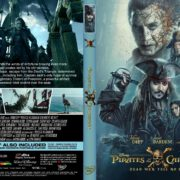 Pirates Caribbean-Dead Men Tell Tales (2017) R1 CUSTOM DVD Cover & Label