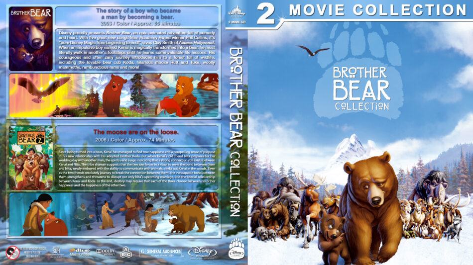 Brother Bear Collection Blu Ray Cover 2003 2006 R1 Custom