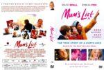 Mum's List (2016) R2 CUSTOM DVD Cover & Label