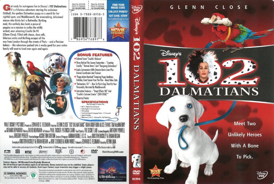 102 Dalmatians 2000 R1 Dvd Cover