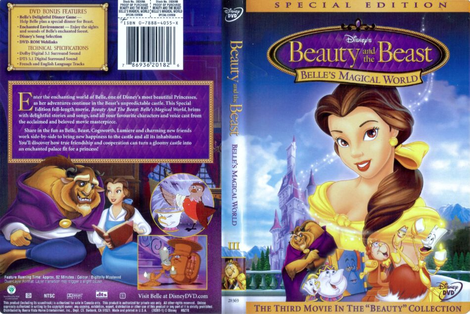 Beauty And The Beast Belle S Magical World Dvd Cover 1998 R1