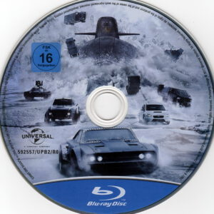 fast furious 8 blu ray cover label 2017 r2 german. Black Bedroom Furniture Sets. Home Design Ideas