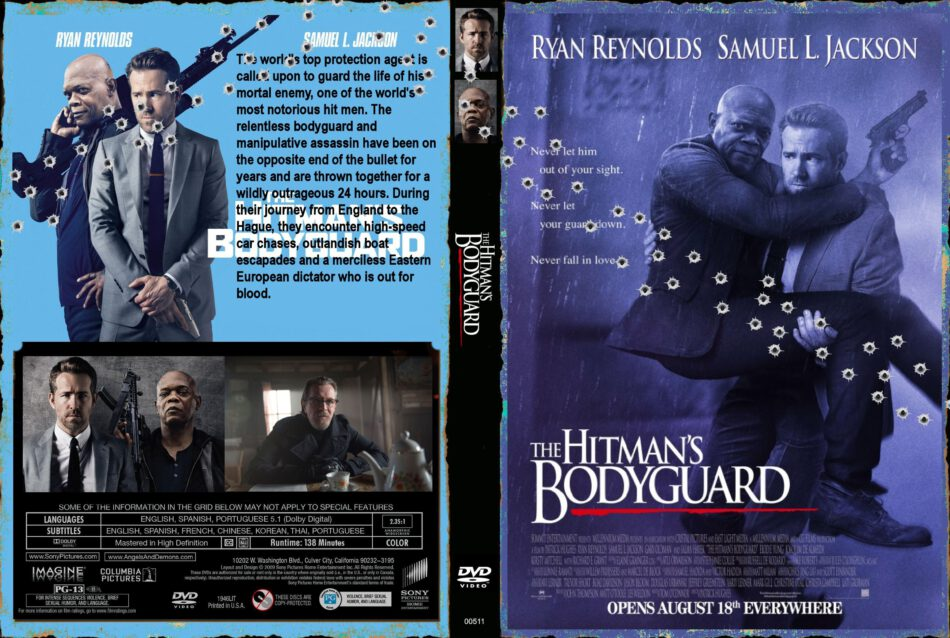 The Hitman S Bodyguard 2017 R0 Custom Cover Label Dvdcover Com