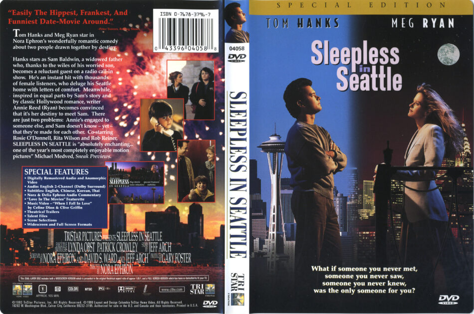 Sleepless In Seattle 1993 R1 Dvd Cover Label Dvdcover Com
