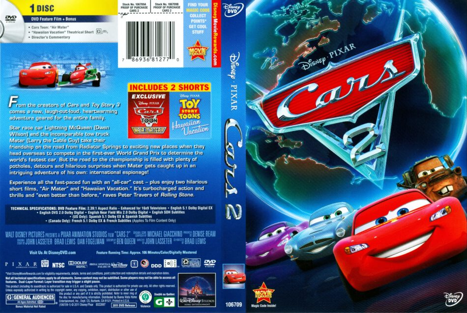 Cars 2 2011 R1 Dvd Cover Dvdcover Com