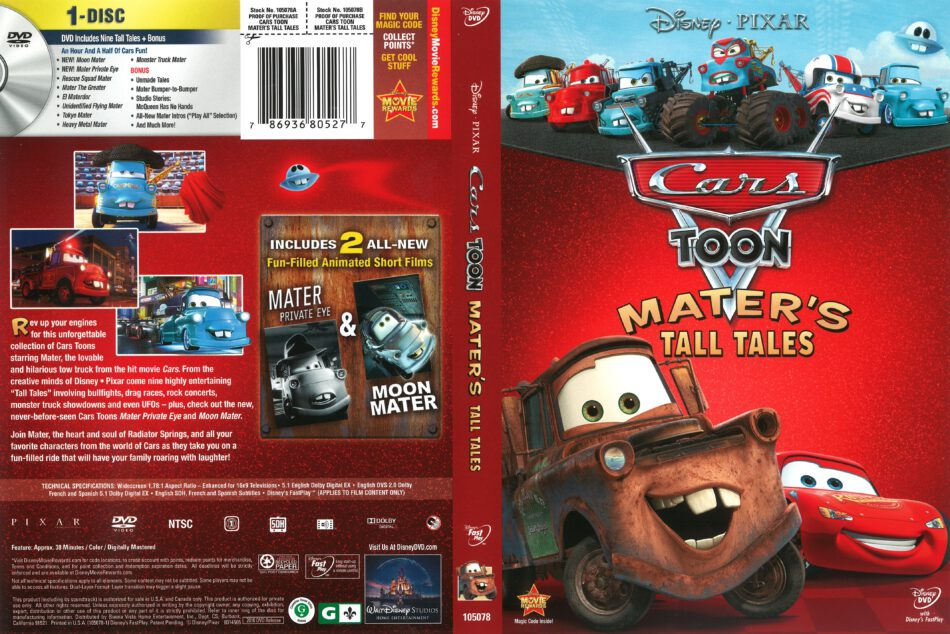 Cars Toon: Mater's Tall Tales (2010) R1 DVD Cover - DVDcover Com