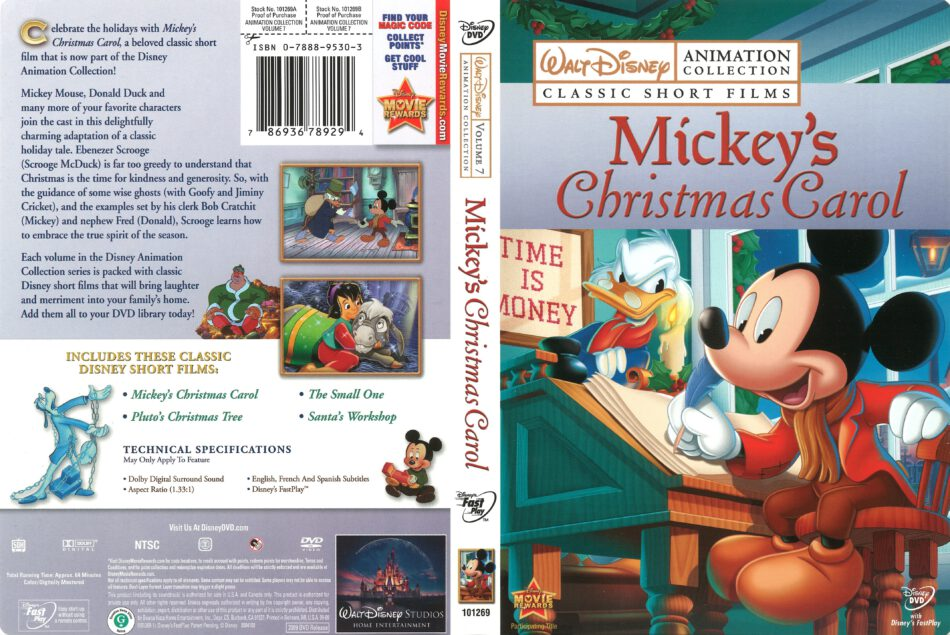 Mickeys Christmas Carol Dvd.Walt Disney Animation Collection Mickey S Christmas Carol
