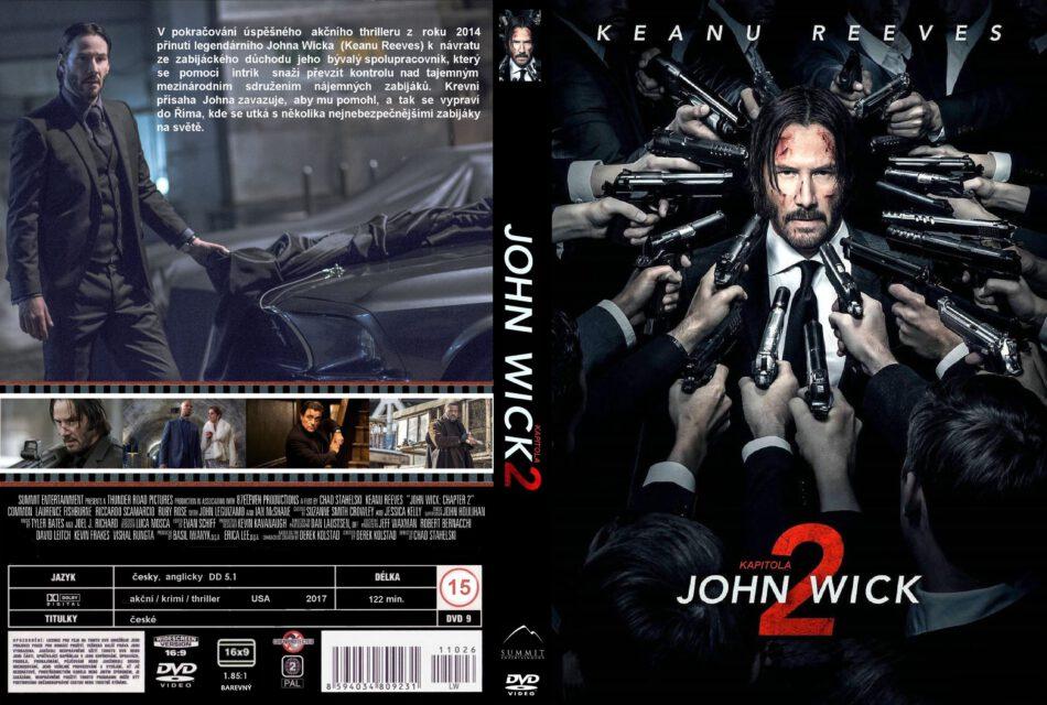 John Wick Chapter Two 2017 R2 Custom Czech Dvd Cover Dvdcover Com