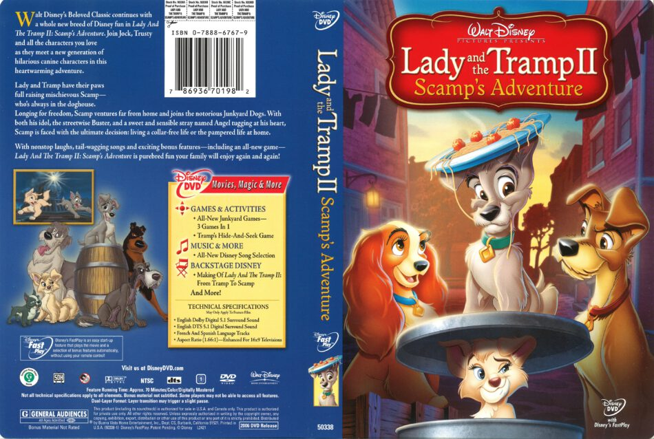 Lady And The Tramp Ii Scamp S Adventure 2006 R1 Dvd Cover Dvdcover Com