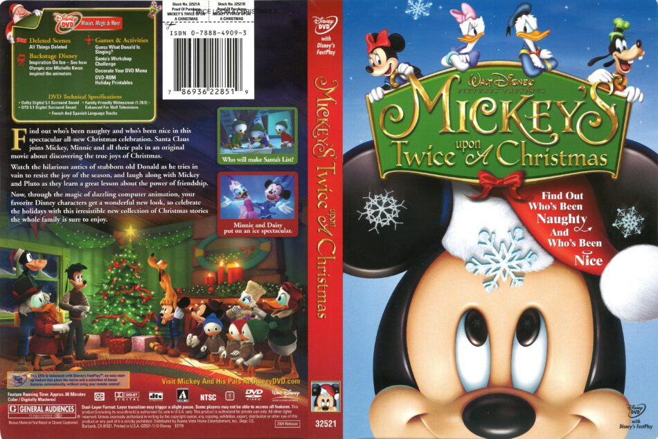 Mickey S Twice Upon A Christmas 2004 R1 Dvd Cover Dvdcover Com