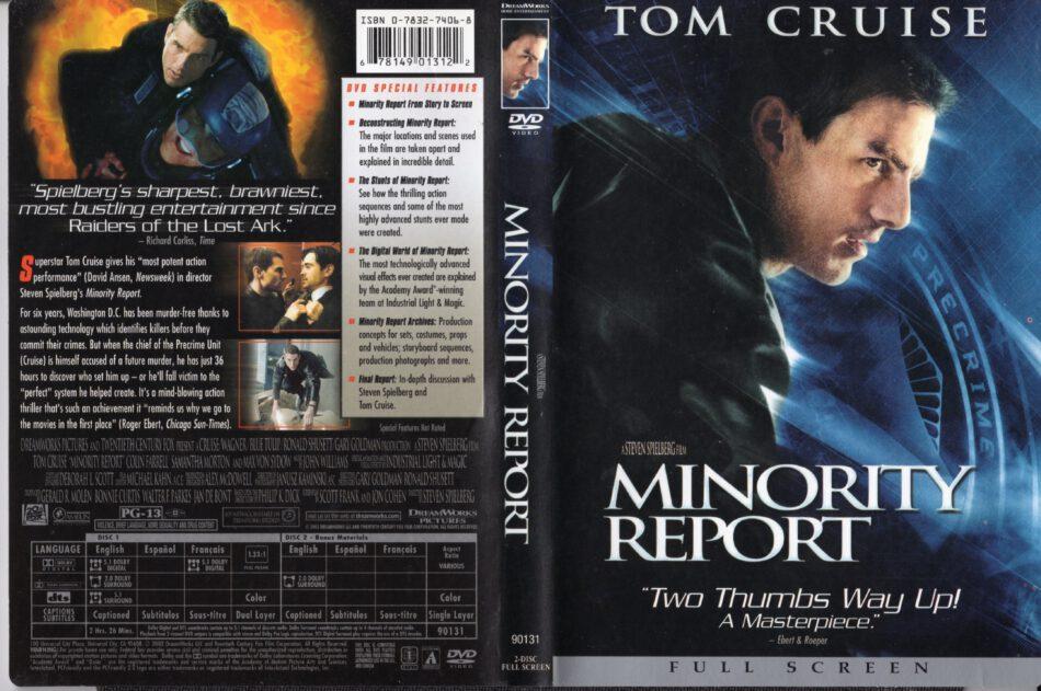 Minority Report 2002 R1 Fs Cover Label Dvdcover Com