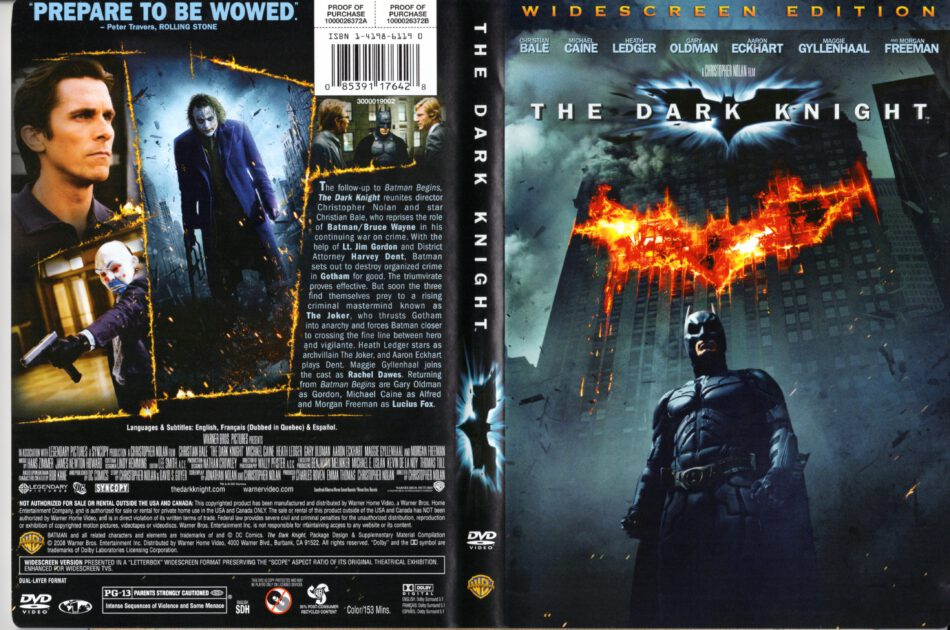 The Dark Knight 2008 R1 Ws Cover Label Dvdcover Com
