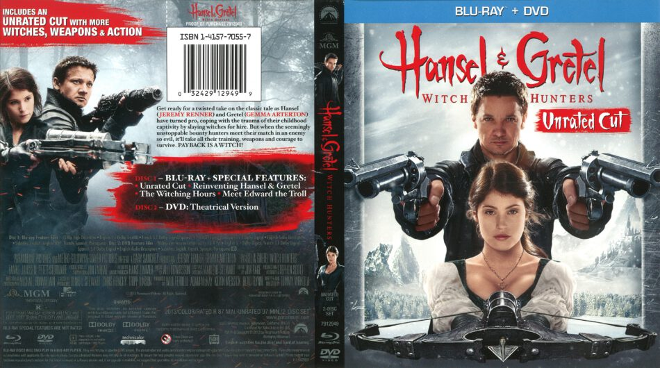Hansel And Gretel Witch Hunters 2013 R1 Blu Ray Cover Dvdcover Com