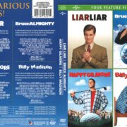 4 Feature Films: Liar, Liar/Bruce Almighty/Happy Gilmore/Billy Madison (2012) R1 DVD Cover