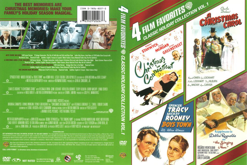 Christmas In Connecticut Dvd.4 Film Favorites Christmas In Connecticut A Christmas Carol