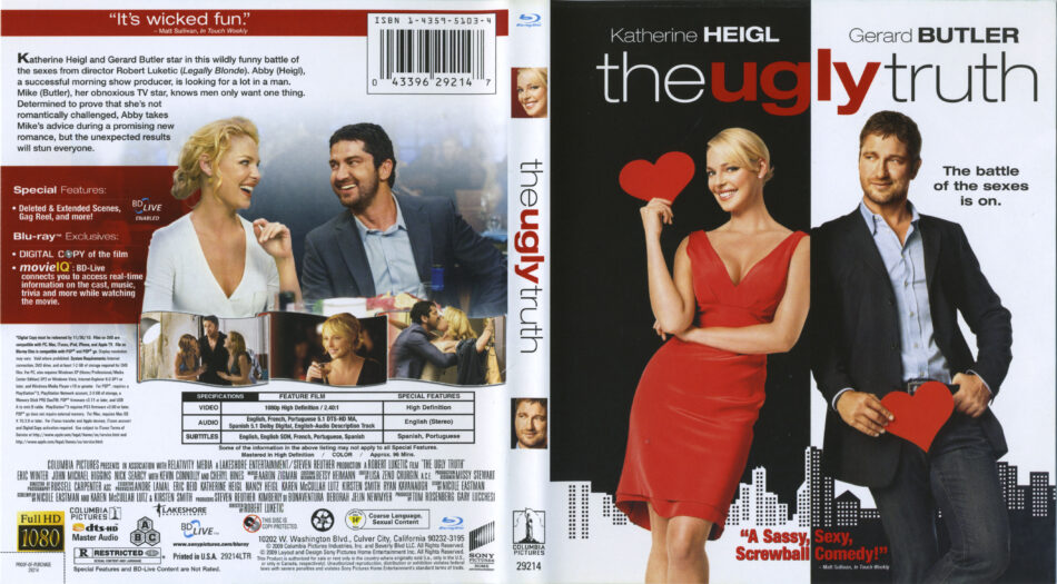 The Ugly Truth 2009 R1 Blu Ray Cover Labels Dvdcover Com