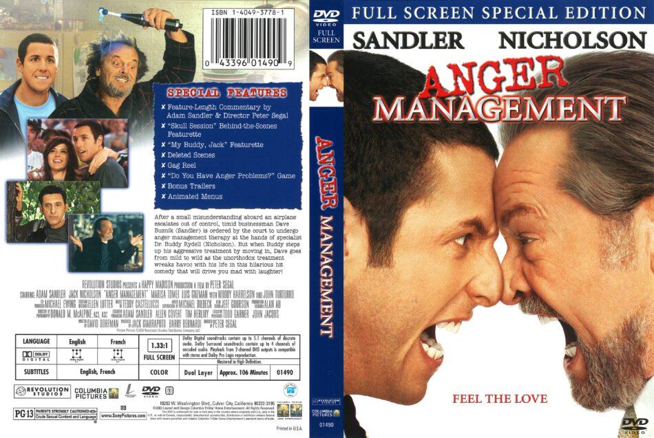 Anger Management 2003 R1 Dvd Cover Dvdcover Com
