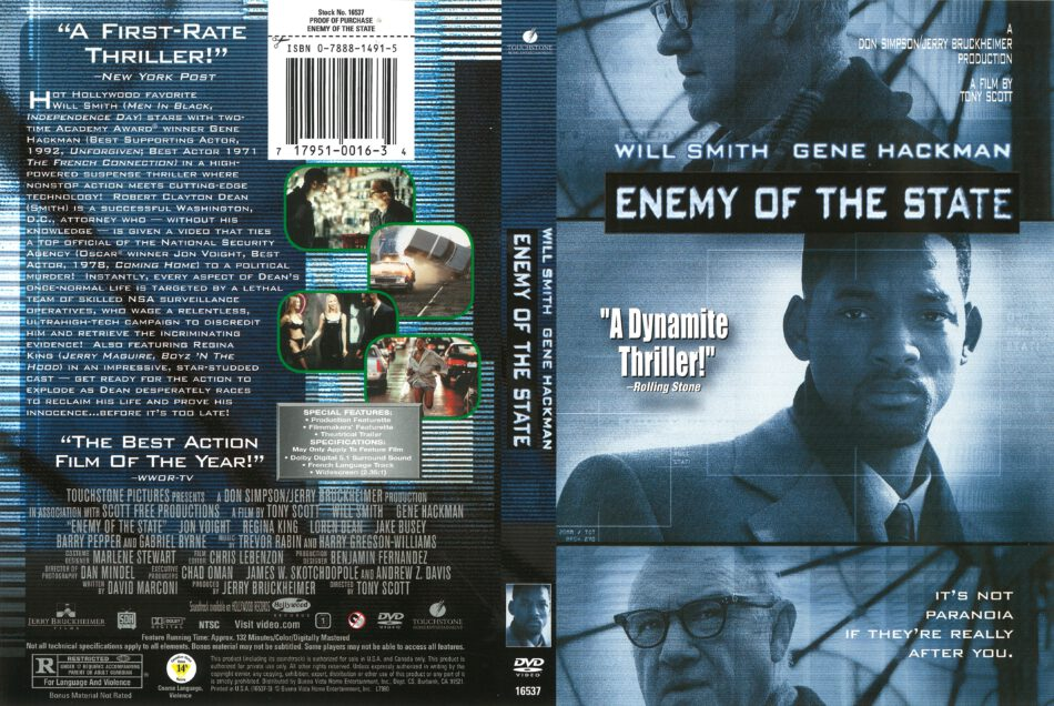Enemy Of The State 1998 R1 Dvd Cover Dvdcover Com