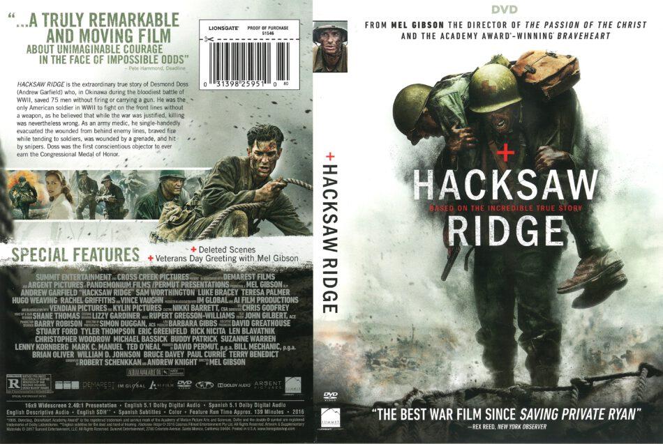 Hacksaw Ridge 2016 R1 Dvd Cover Dvdcover Com