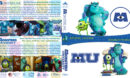 Monsters, Inc / Monsters University Double Feature (2001-2013) R1 Custom V2 Blu-Ray Cover