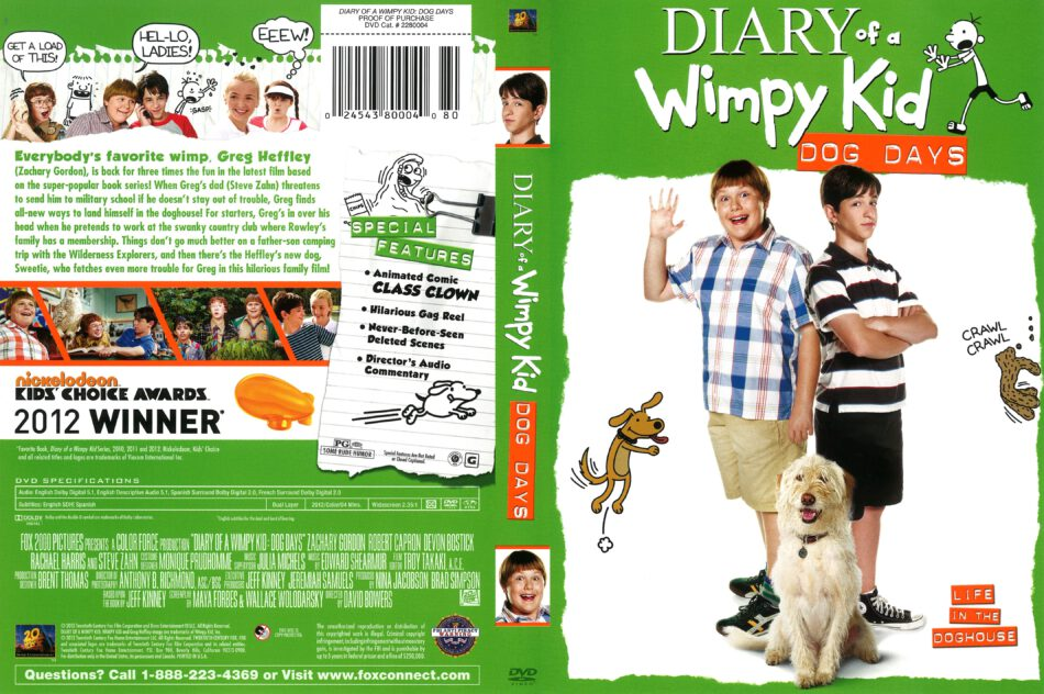 Diary Of A Wimpy Kid Dog Days 2012 R1 Dvd Cover Dvdcover Com