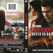 Jack Reacher: Never Go Back (2017) R1 DVD Cover